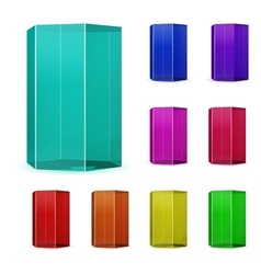 Glass Prisms vector image