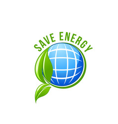 green energy planet ecology save earth icon vector image vector image
