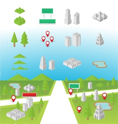 Map Icons vector image vector image