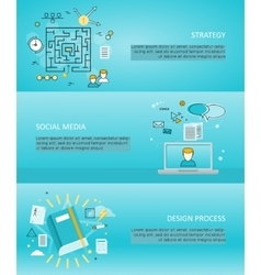 Set of Creative Process and Share Banners vector image