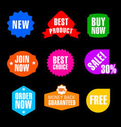 advertising and promotion banners vector image vector image