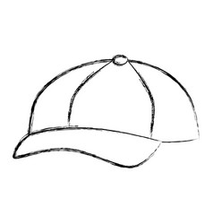 baseball cap isolated icon vector image vector image