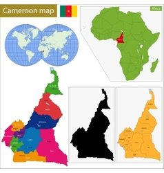 Cameroon map vector image