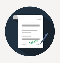 document icon agreement contract in flat style vector image