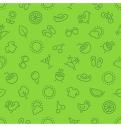 Summer and Vacation Green Seamless Pattern vector image vector image