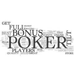 Best bonus for online poker full tilt poker bonus vector