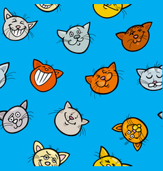 cartoon wrapping paper with cats vector image vector image
