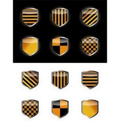 Protect shield set vector image vector image