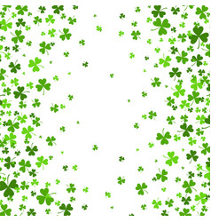 saint patrick s day border with green four and vector image