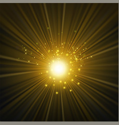 star burst with sparkles glowing glitter texture vector image vector image