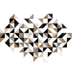 A gold and black geometric background vector