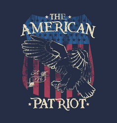 american patriot - eagle - badge vector image