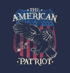 American patriot - eagle - badge vector