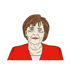 angela merkel portrait pop art flat design vector image