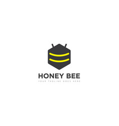 bee logo and icon vector image
