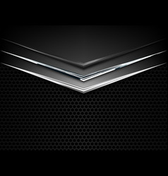 black and white metal texture background vector image