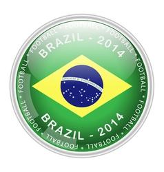 brazil button vector image