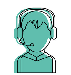 call center man design vector image