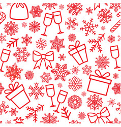 christmas icon seamless pattern winter holiday vector image