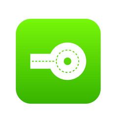 Circular impasse icon digital green vector