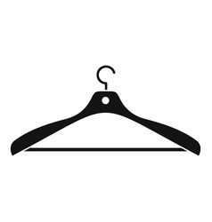 clothes hanger icon simple style vector image