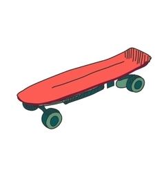 Colored doodle skateboard vector image