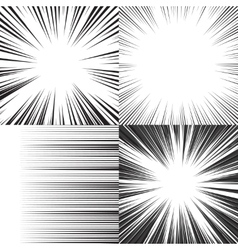 Comic book speed horizontal lines background vector image