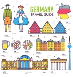 Country Germany travel vacation guide of goods vector