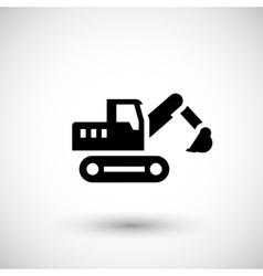 Crawler excavator icon vector image