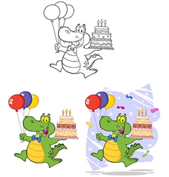 Crocodile cartoon design vector