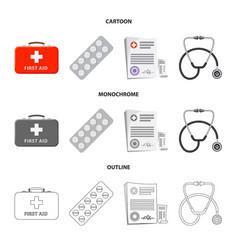 Design of pharmacy and hospital sign vector