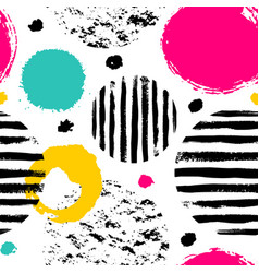 doodle pattern with color circles vector image