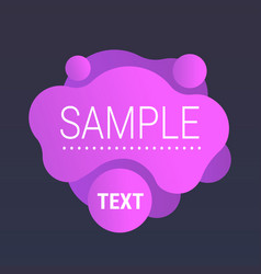 dynamical purple gradient form abstract banner vector image