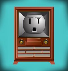 Electric TV Face vector