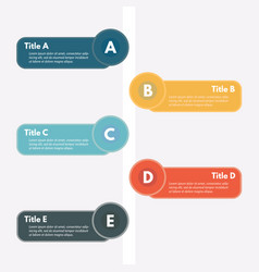 five steps infographic design elements vector image