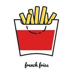French Fries potato icon Line art vector