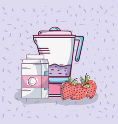 fruits smoothie drink vector image