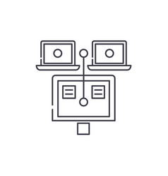 general documents line icon concept general vector image