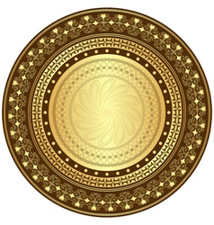 gold and brown frame vector image