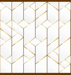 gold frame mosaic seamless pattern vector image