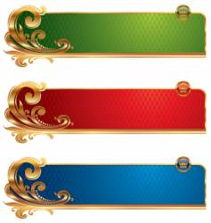 golden luxury banners vector image
