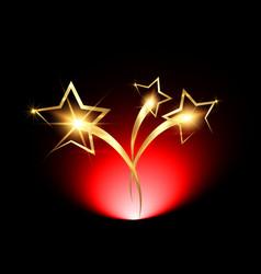 Golden stars logo icon red carpet concept vector