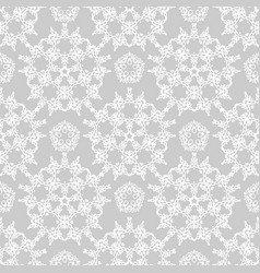 gray lace template vector image