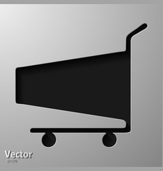 Hand truck and boxes icon isolated with long vector
