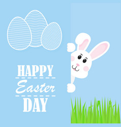 Happy easter easter rabbit rabbit looks vector