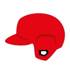 Helmet red baseball isolated vector