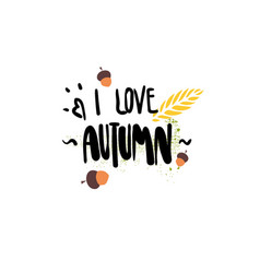 i love autumn badge isolated design label season vector image