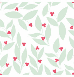 Leaves seamless background for your design vector