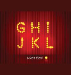 light font2 vector image