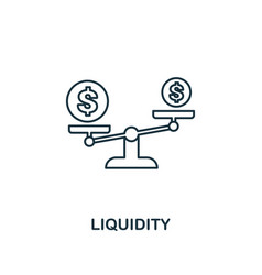 liquidity outline icon thin line element from vector image